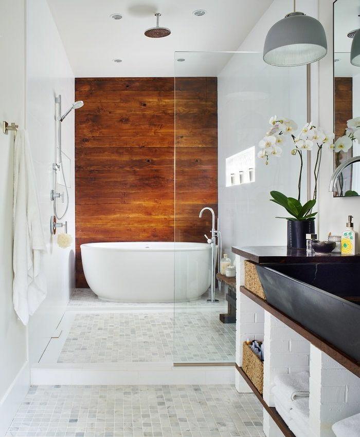 Faszinierende Bad  Gestaltungsideen Mit Holzverkleidung Bad Wandverkleidung  Kreativ