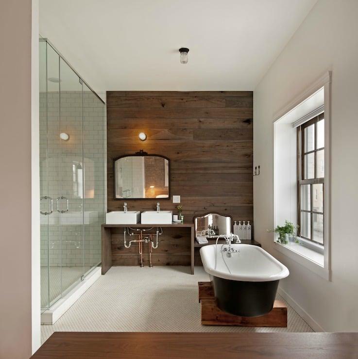 Bad Wandverkleidung mit Holz - warum denn nicht? - Badezimmer ...