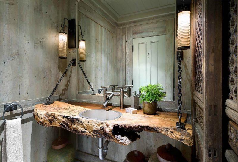 badgetsaltung ideen rustikalen stil und veraltete möbel