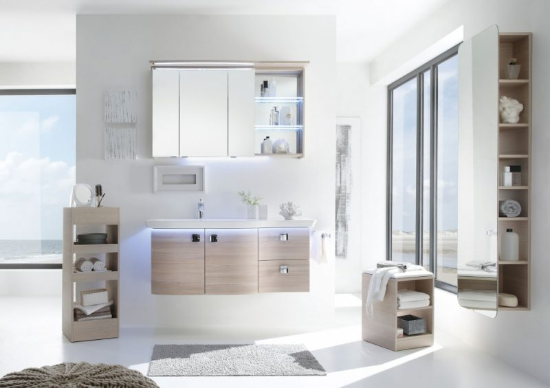 badgetsaltung ideen für modernes familienbad in weißer farbe