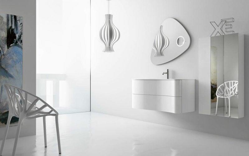 badgetsaltung ideen in weißer farbe mit schlichtem design