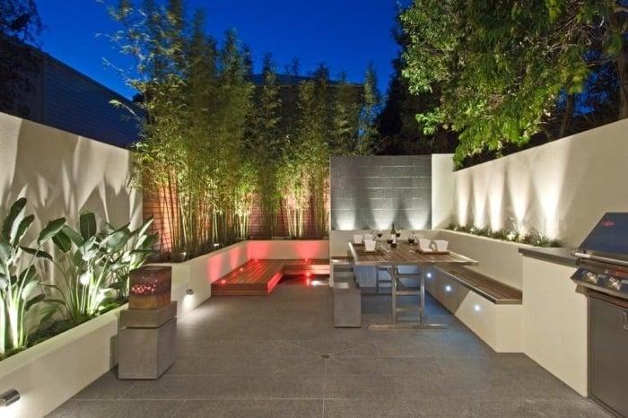 Bambus Kubel Sichtschutz Terrasse