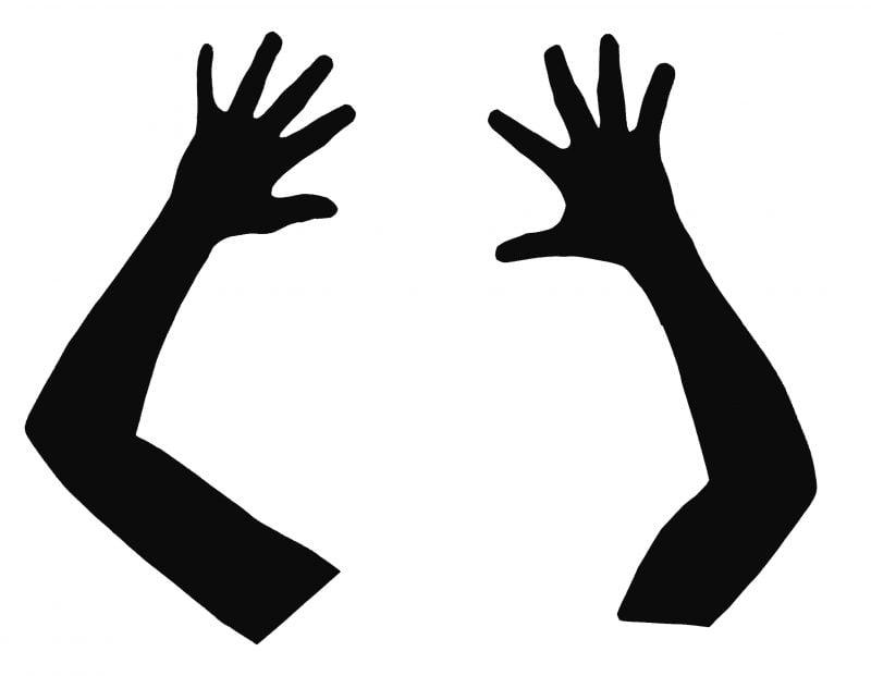 Bastelvorlagen fürs Fenster - Hände