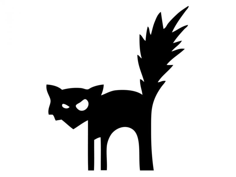 Bastelvorlagen fürs Fenster - Katze