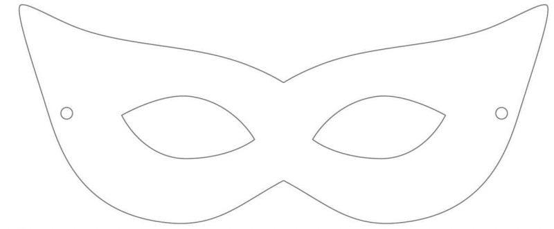 Machen Sie eine Halloween Maske mit Bastelvorlagen