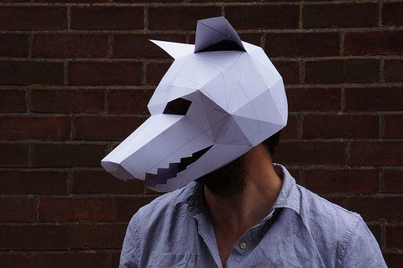 Bastelvorlagen für Halloween Maske zum Falten
