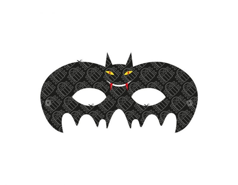 Schneiden Sie die Bastelvorlagen für Halloween Maske