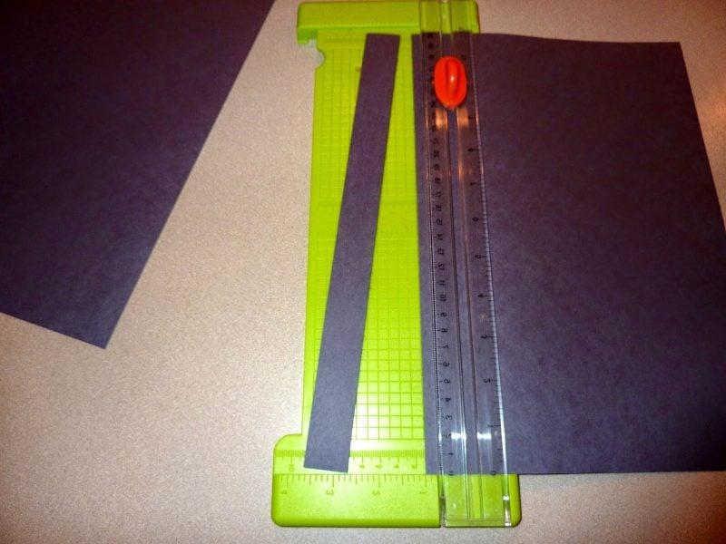 Bastelvorlagen für hängende Spinne: Schritt 1
