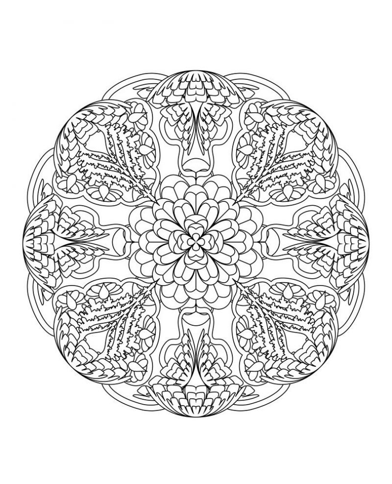 Mandalas For Experts Coloring Pages