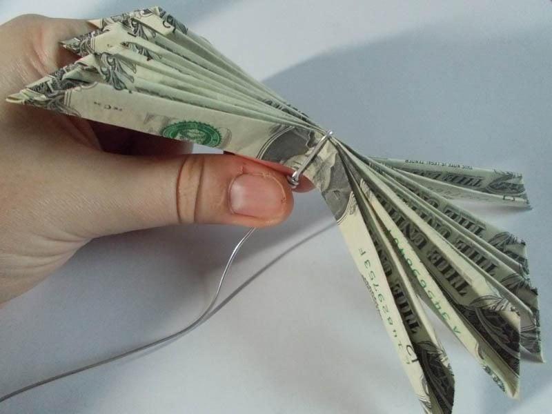blume geldscheine falten anleitung