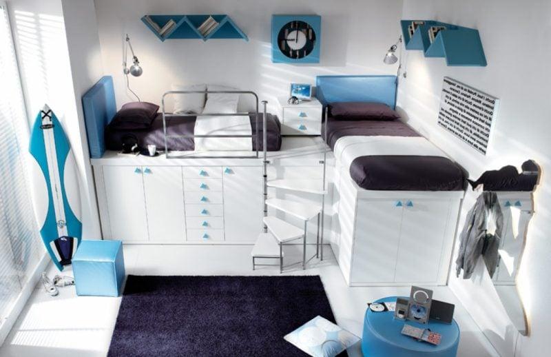 Coole Bettwäsche in dunklen Farben passen zu einem Jungen-Zimmer