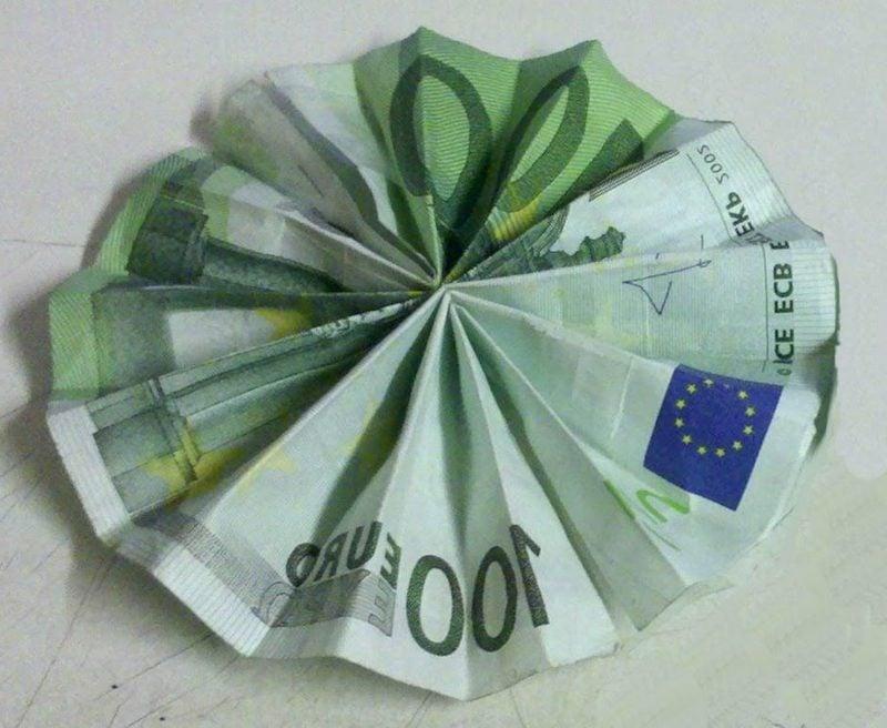 einfache Blume Geldschein