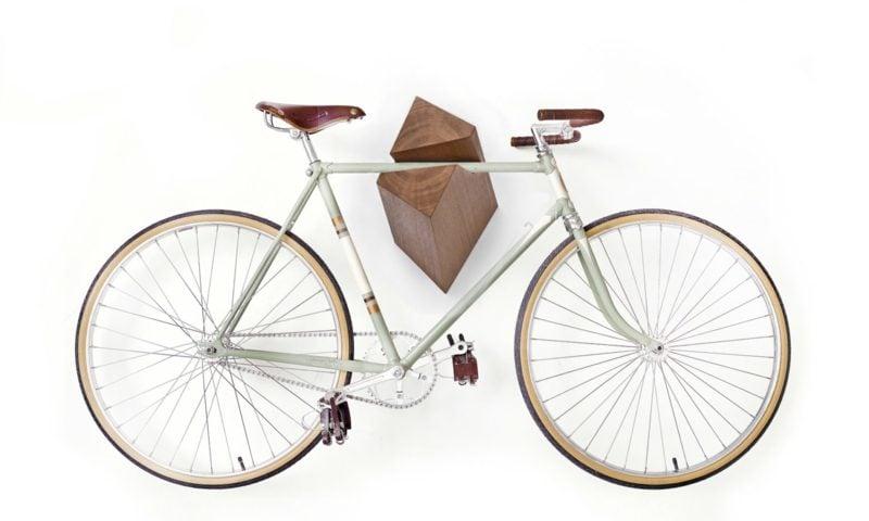fahrradhalter wand abstellstander holzideen