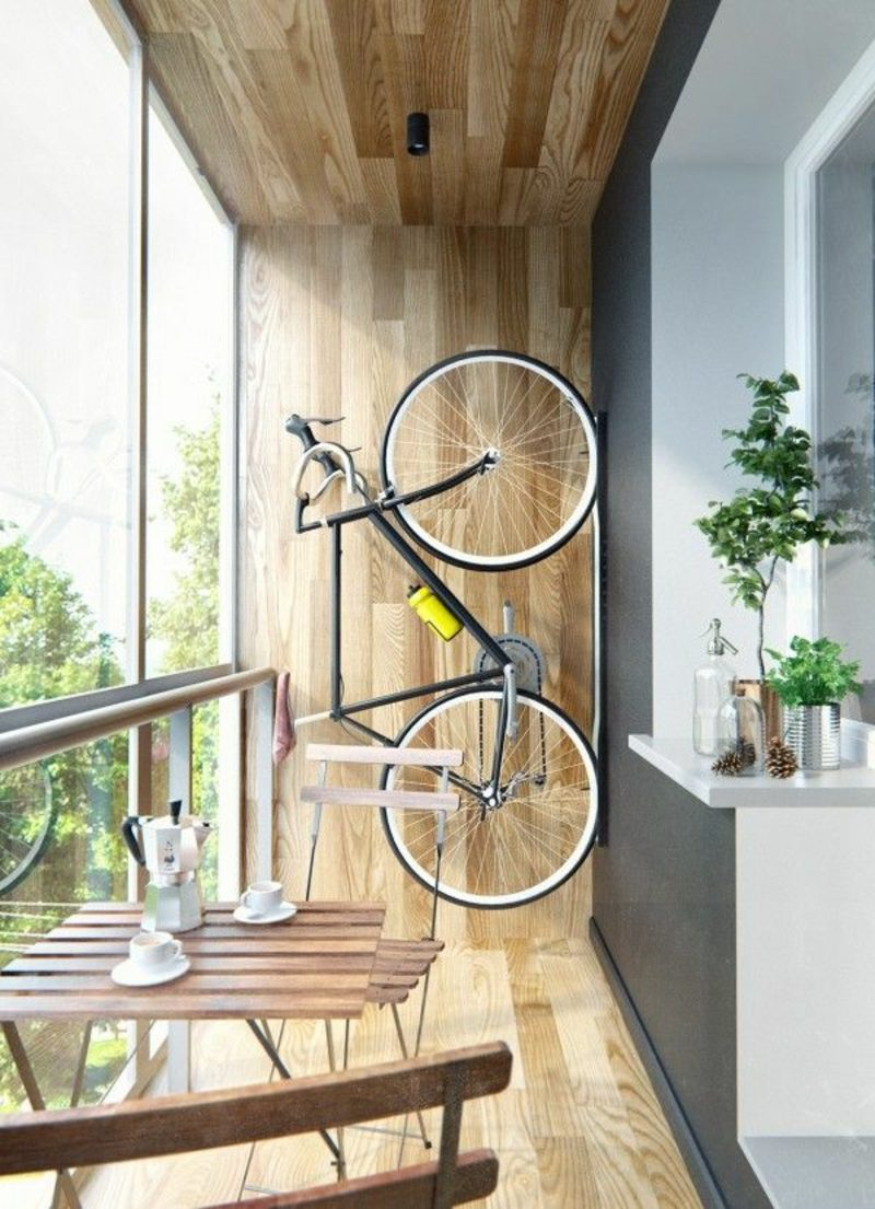 fahrradhalter wand balcony storage