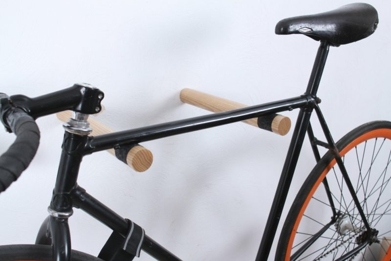 fahrradhalter wand holzhalterung