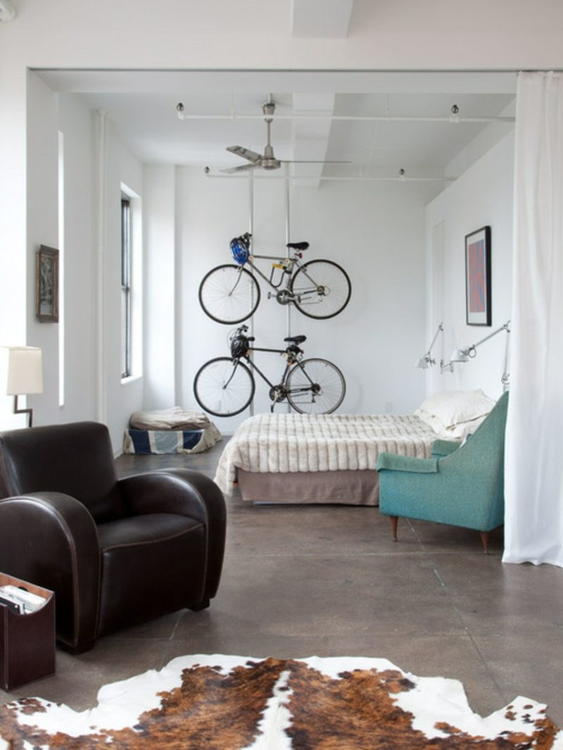 fahrradhalter wand industrial bedroom