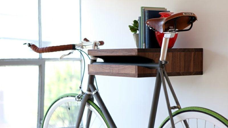 fahrradhalter wand walnut