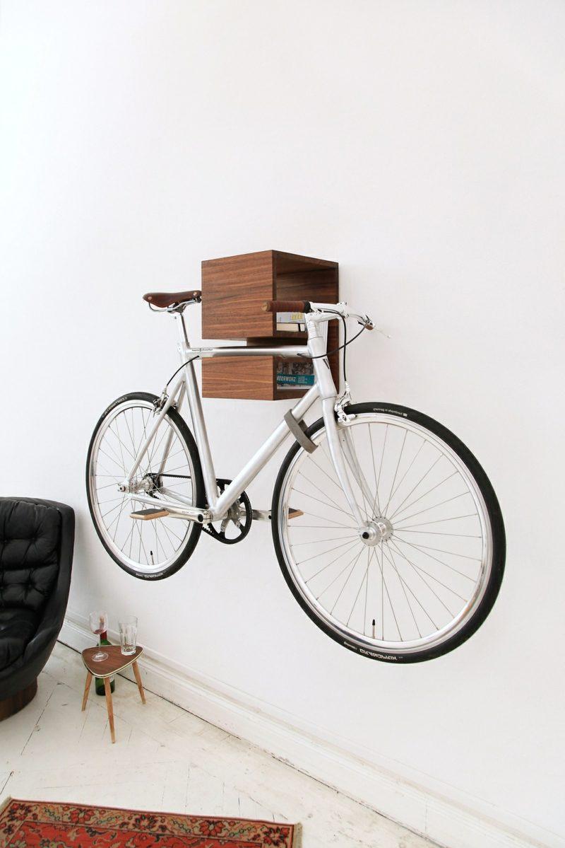 fahrradhalter wand wohnzimmerideen