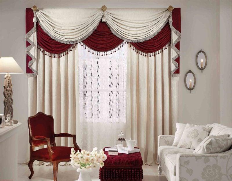 Diese Art von Gardinen für Fenstergestaltung lässt das Wohnzimmer aristokratisch aussehen