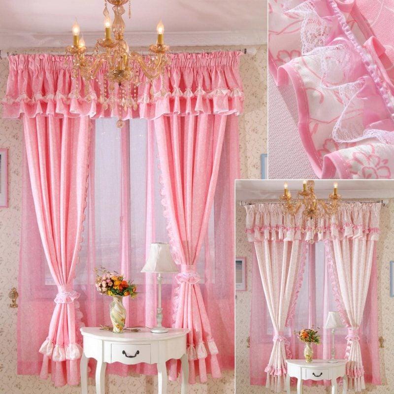 Fenstergestaltung mit Gardinen für kleine Prinzessinnen