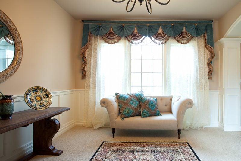Fenstergestaltung mit Gardinen nur als dekoratives Element