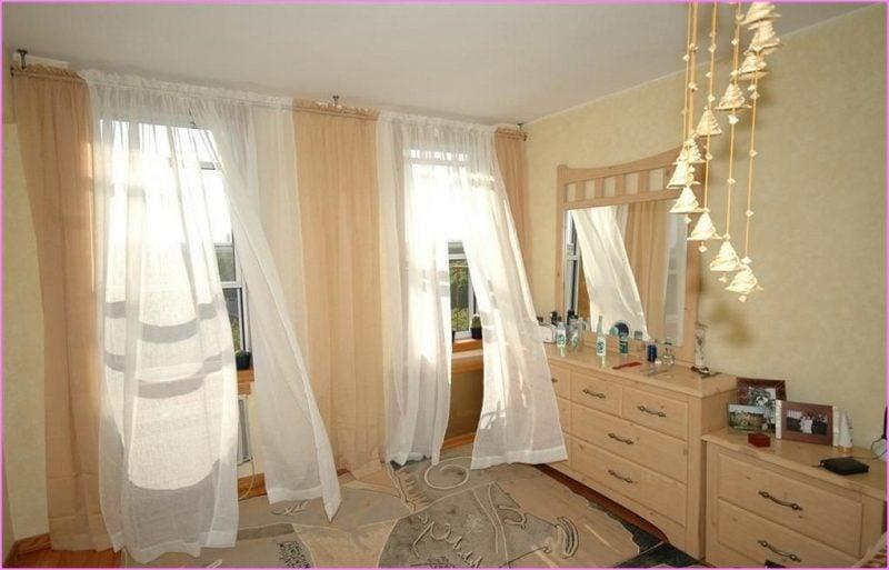 Fenstergestaltung mit Vorhängen lasst das Licht durch
