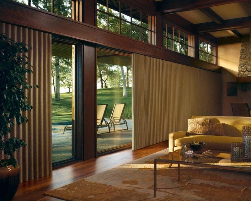 Fenstergestaltung für Schiebglastuer