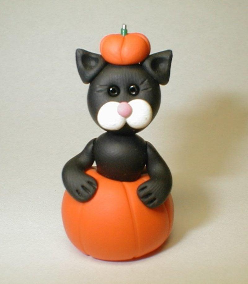 Fimo Ideen für Halloween: Basteln Sie eine Katze