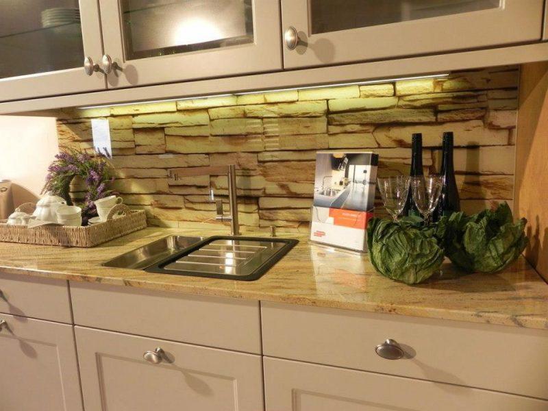 folie kuchenruckwand gibt eine chance, steinoptik für die küche günstig zu besorgen