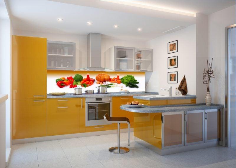 folie küchenrückwand mit gemüsen ornamenten darauf könnte sehr efrischend sein