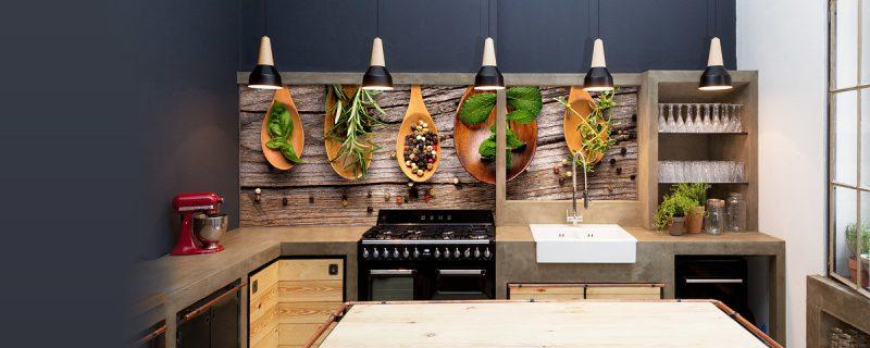 folie kuchenruckwand mit ornamenten, die den appetit erwecken