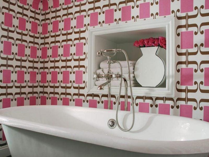 Fototapete günstig können Sie auch im Badezimmer einsetzen