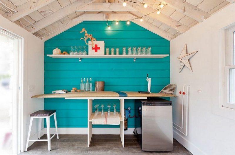 Gartenhütten als Beach-bar