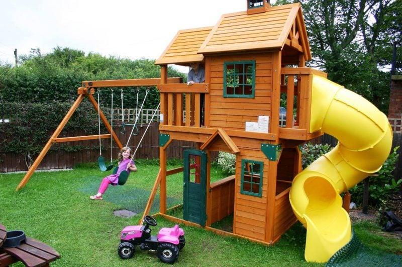 Gartenhütten als Spielplatz