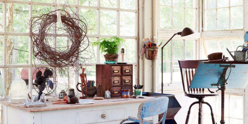 Gartenhütten als Künstlerbereich
