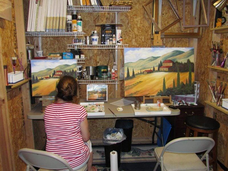 Gartenhütten als Art Studio