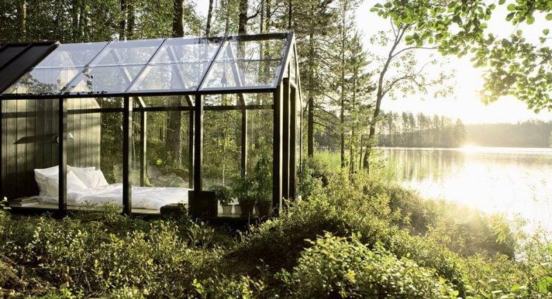 Gartenhütten aus Glas
