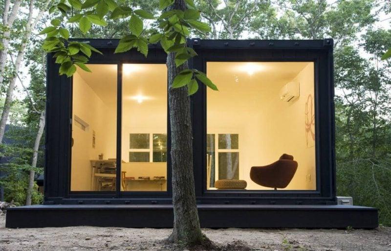 Gartenhütten mit Glastüren