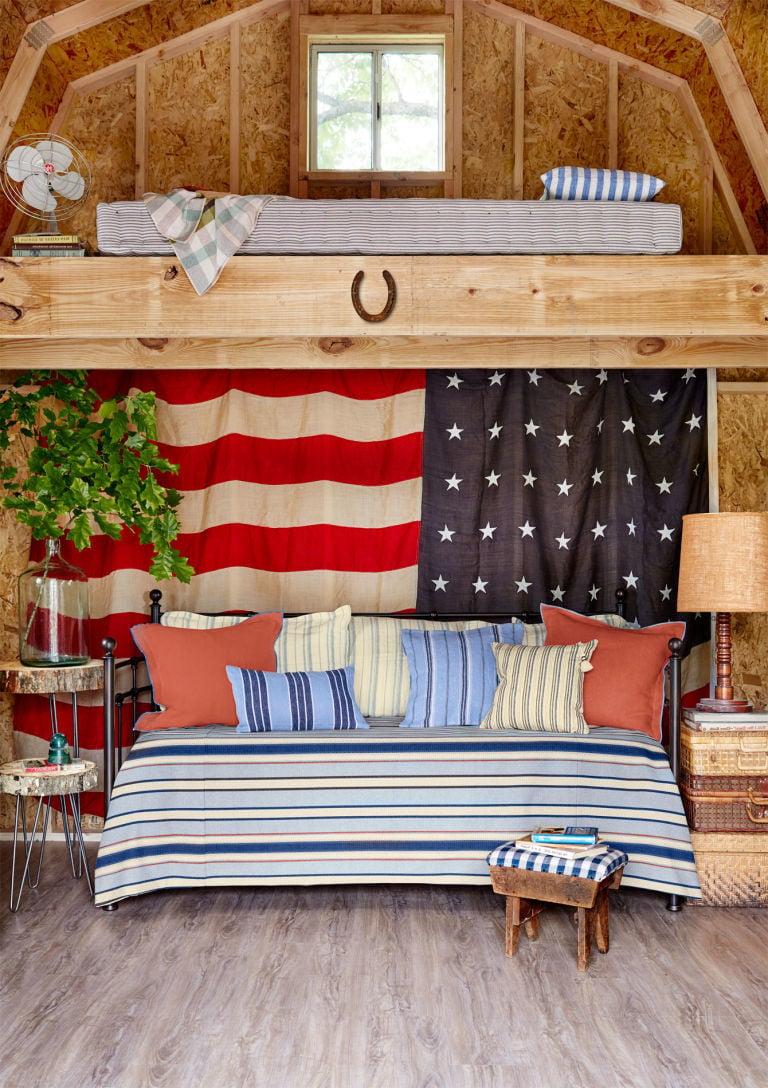 Die Gartenhütten können die Wohnung im Sommer sein