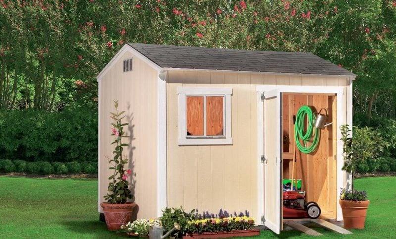 Es ist nicht obligatorisch die Gartenhütten aus Holz zu sein