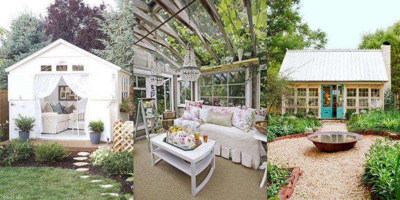 Holen Sie sich Ideen für In- und Exterieur von Gartenhütten