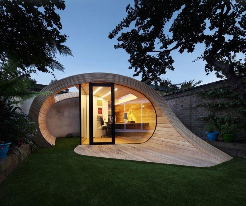 Gartenhütten von Minimalismus inspiriert