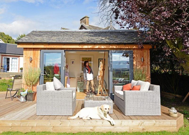Gartenhütten Ideen im modern Design