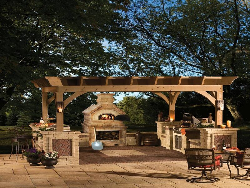 gartenkamin bauen ideen terrasse