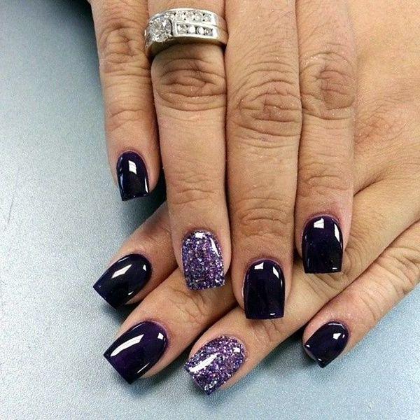gelnägel galerie violet