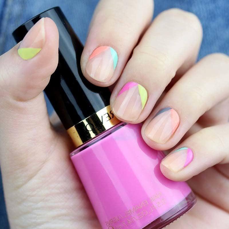 Gelnägel Bilder - Verwenden Sie knallen Farben für kurze Nägel