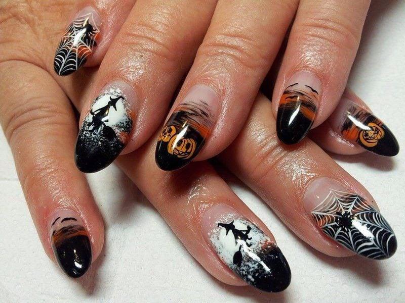 Gelnägel Motive für Halloween: Professionelles Design
