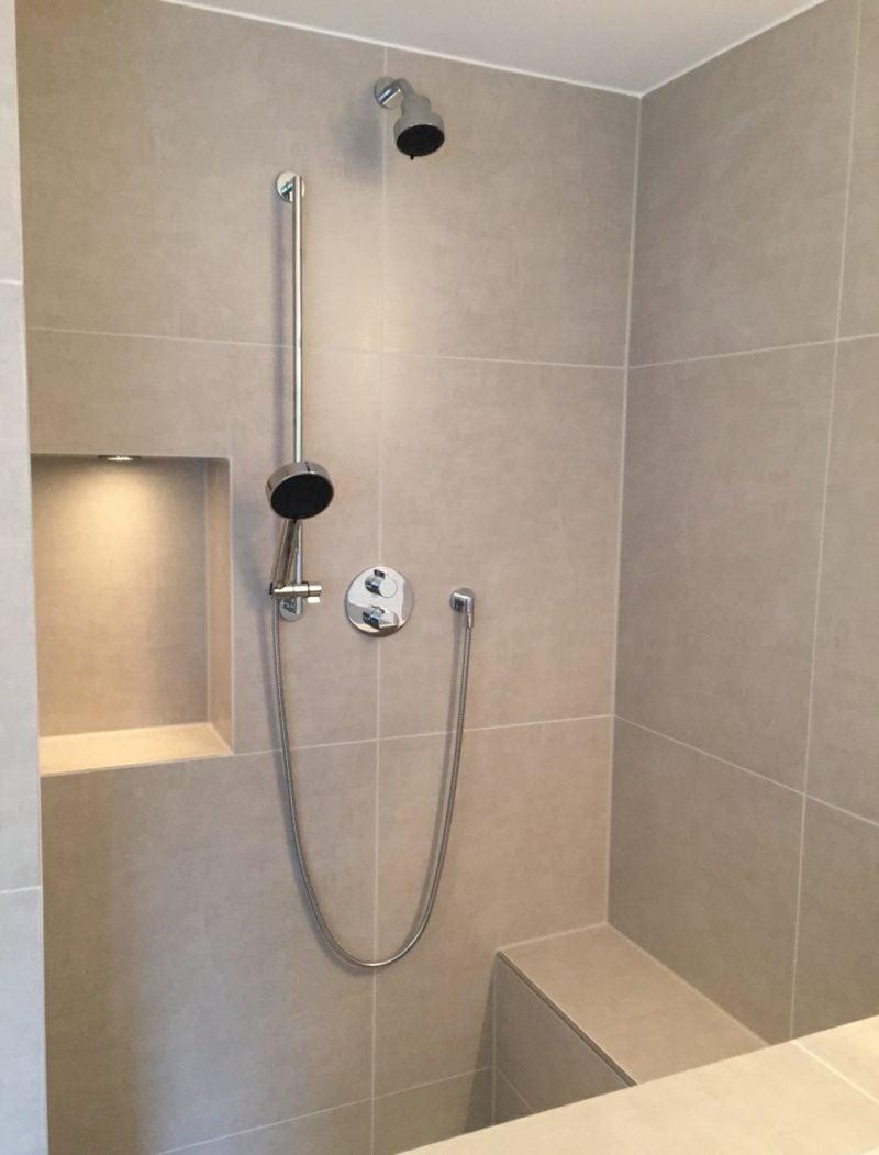 Badgestaltung gemauerte Dusche