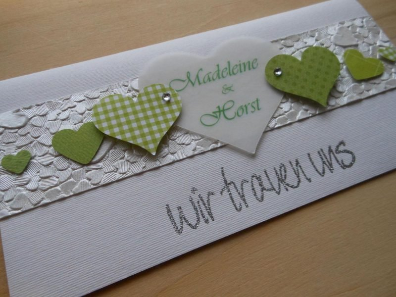 Hochzeitskarten Basteln 21 Marchenhafte Ideen Bastelideen