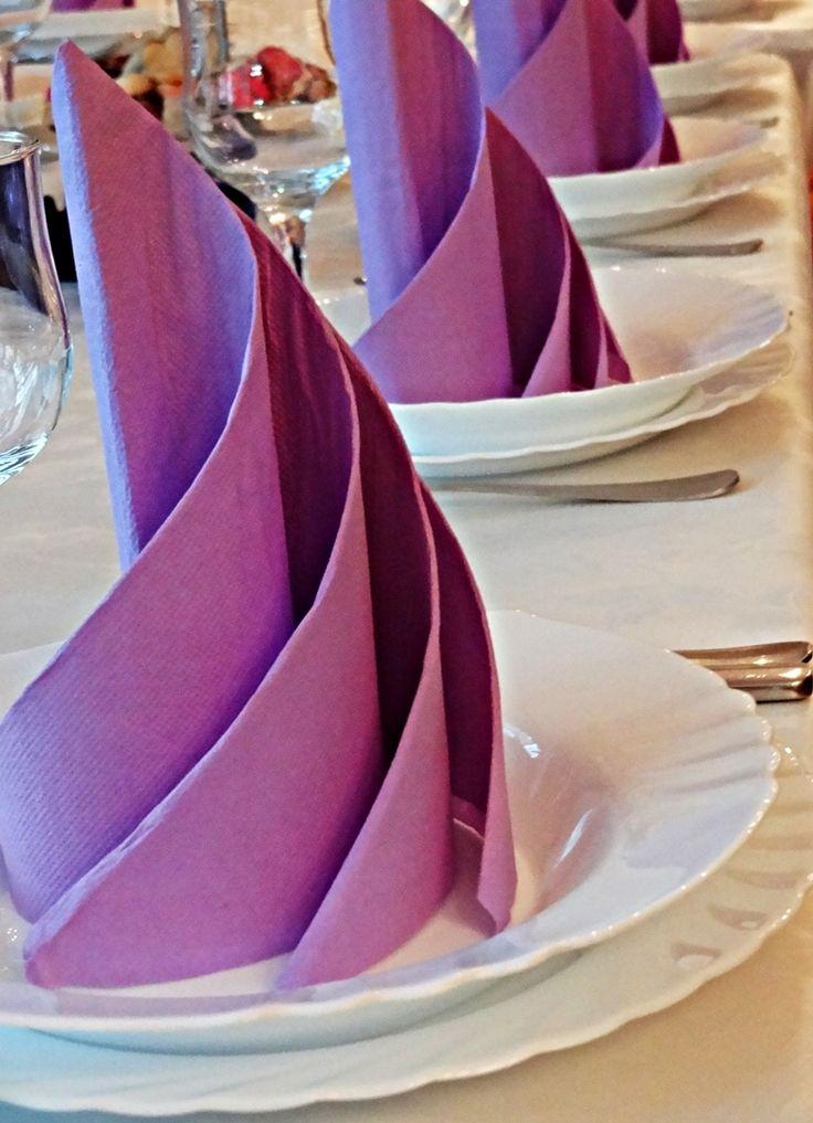 hochzeitsservietten lila